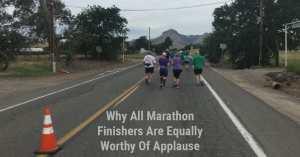 All marathon finishers are equal