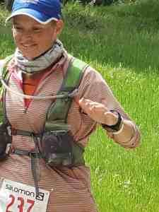Sara Kurth at the American River 50