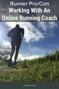 Pro and Con on online running coaches
