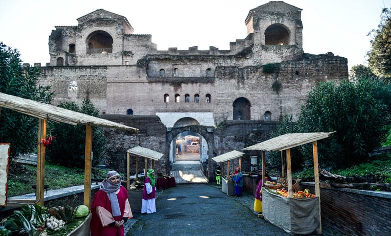 Roma presepe porta asinara