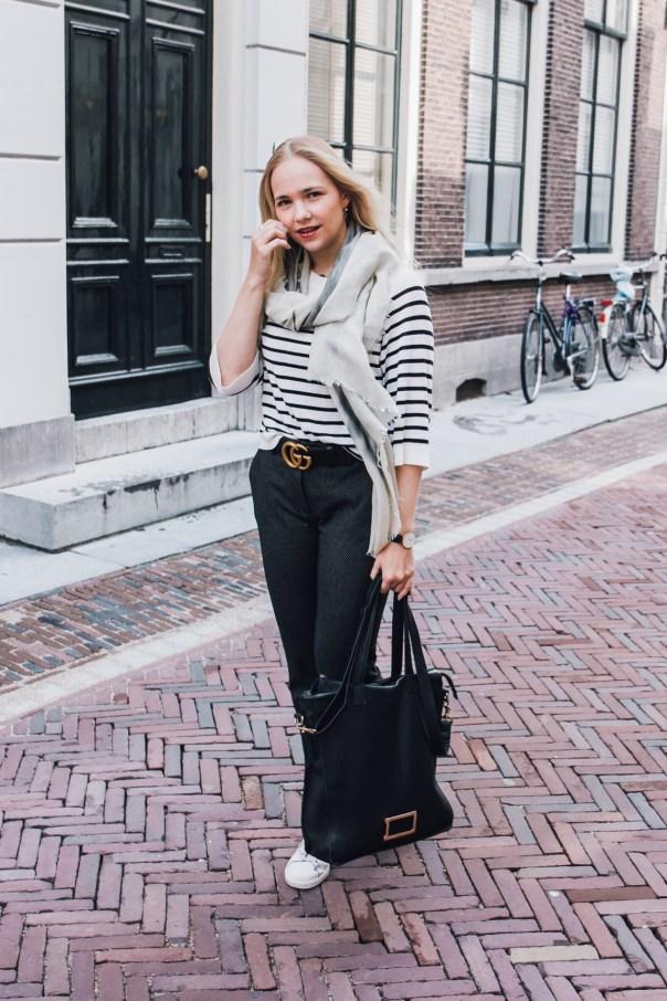 Stripes, dots and cats outfit SarandaAdriana by Alexandra Huijgens