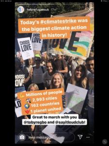 Toby Regbo CLIMATE STRIKE From @helprefugeesuk Instagram Story 🌟 @tobyregbo at #climatestrike 🌟