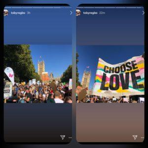 From @tobyregbo Instagram Story 🌟🌟🌟