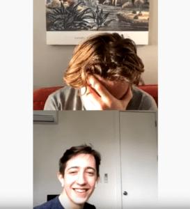 Toby Regbo: diretta (aprile bis)! – pt 2. Reazione di Toby mentre Louis canta