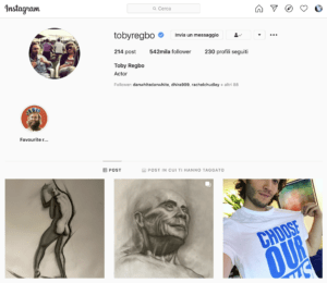 Toby Regbo: sui social. Toby Regbo - Instagram