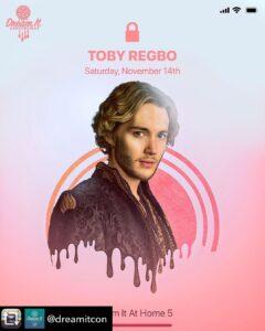 "Toby Regbo sarà a ""DIAH5"" (mio Instagram - 5 novembre)"