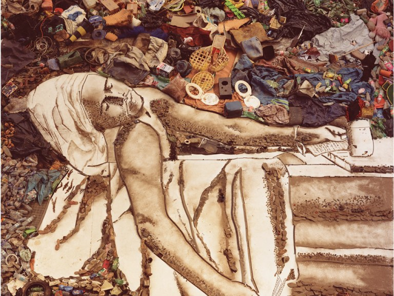 Marat(Sebastiao)(2008) from Vik Muniz's Pictures of Garbage series