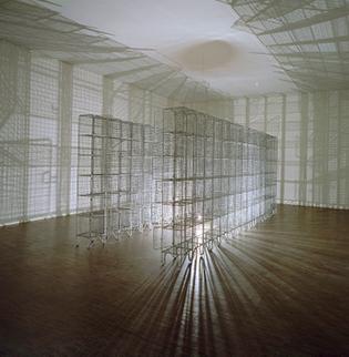 Mona Hatoum's installation Light Sentence from 1992