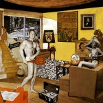 "Richard Hamilton's Pop art piece ""Just what was it that made yesterday's homes so different, so appealing"" from 1956"
