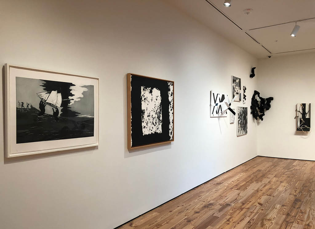 Kara Walker's No World (2010), Richard Serra's Broad Cove Marsh I (1996), and Robert Barber's seven pieces at Sarasota Art Museum