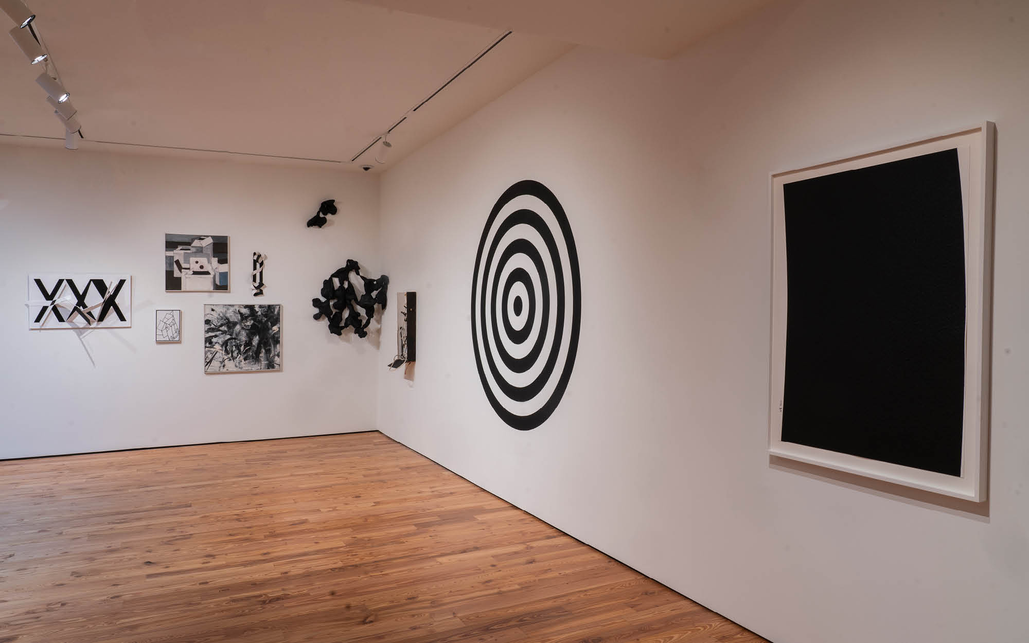 Color. Theory. & (b/w)'s North Gallery featuring work by Robert Barber, Dave Lewis, and Richard Serra