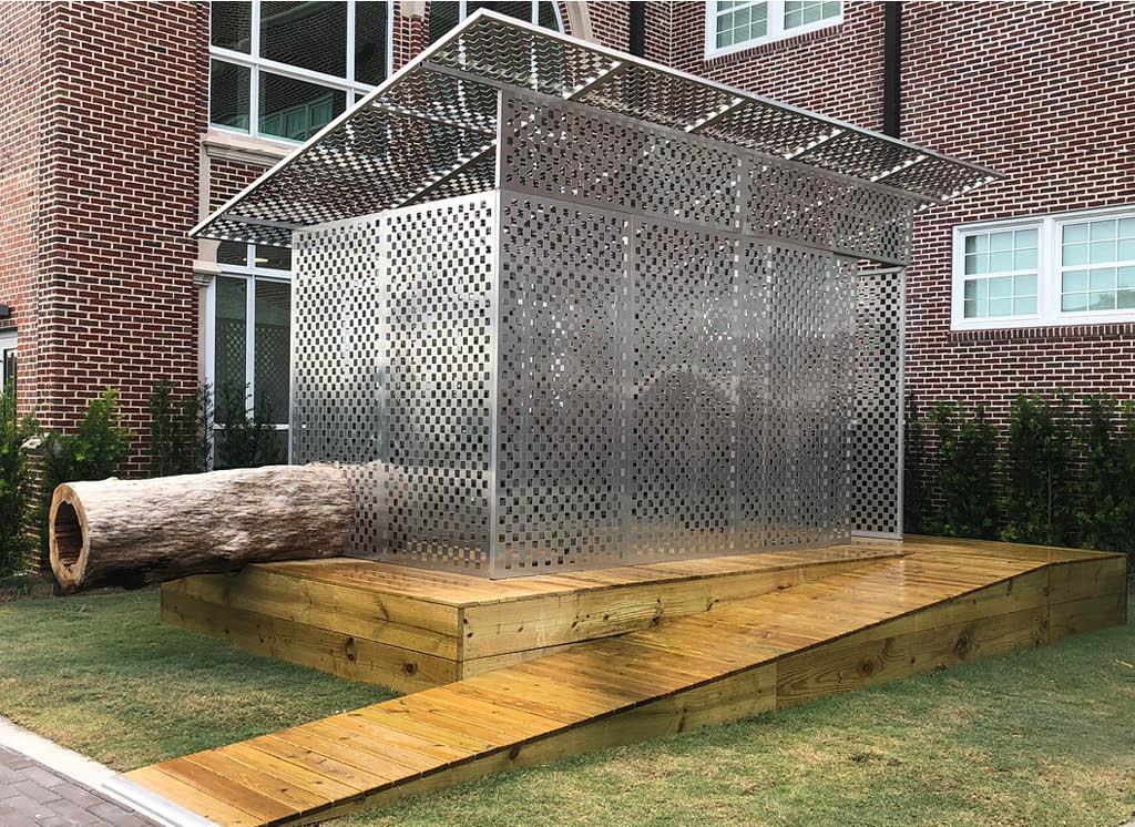 JPW3's Zen Jail is a site specific art installation in the courtyard