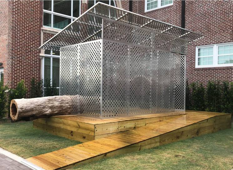 JPW3's Zen Jail is a site specific art installation in the courtyard