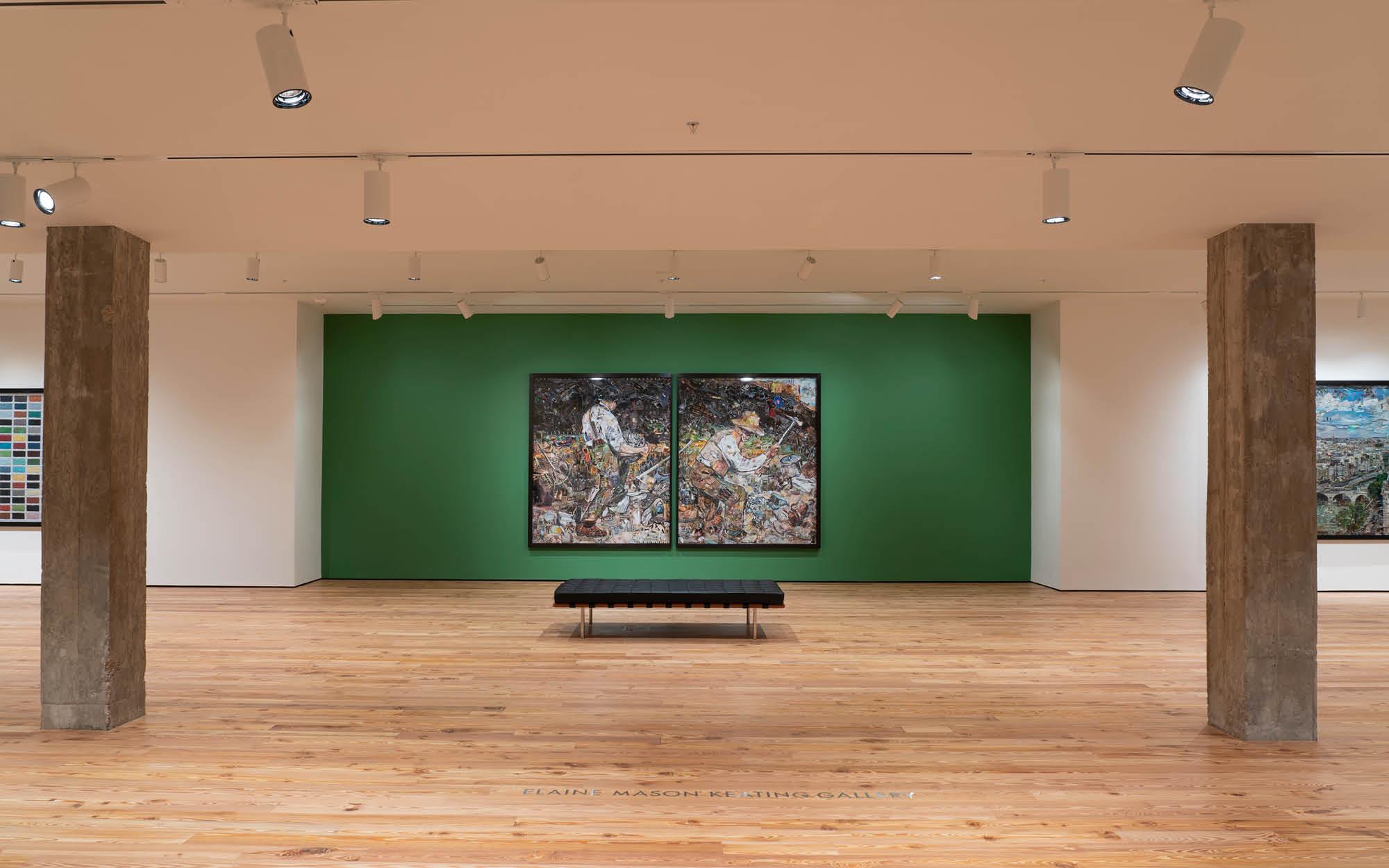 Vik Muniz exhibition, Elaine Mason Keating Gallery