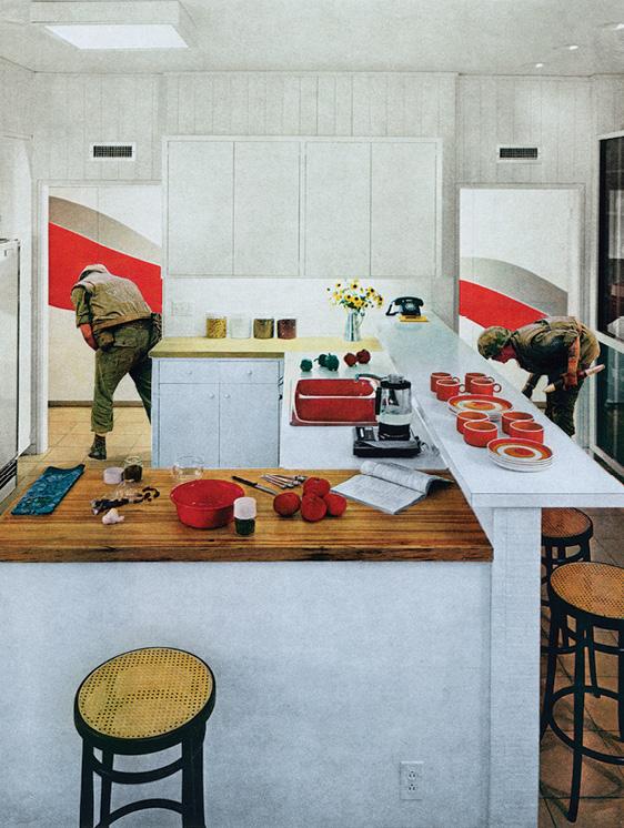 Martha Rosler, Red Stripe Kitchen (1967-72), Source: Martha Rosler, represented by Mitchell-Innes & Nash Gallery, New York