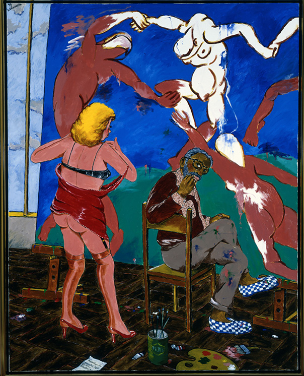 Robert Colescott, Beauty is in the Eye of the Beholder, 1979, Acrylic on canvas, © 2021 The Robert H. Colescott Separate Property Trust / Artists Rights Society (ARS), New York, Portland Art Museum
