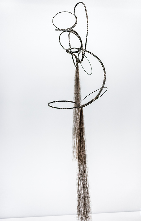 Aranda\Lasch + Terrol Dew Johnson, Horse Hair Coil 02, 2016, Horse hair, sinew, copper, 13 x 20 x 48 in., Courtesy of the artists