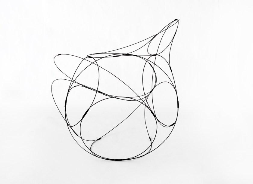 Aranda\Lasch + Terrol Dew Johnson, Wire Coil 01, 2016, Steel wire & nylon, 26 x 18 x 20 in.,Courtesy of the artists
