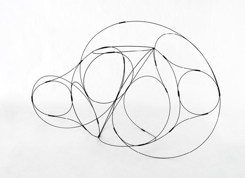 Aranda\Lasch + Terrol Dew Johnson, Wire Coil 03, 2016, Steel wire & nylon, 24 x 26 x 24 in.,Courtesy of the artists