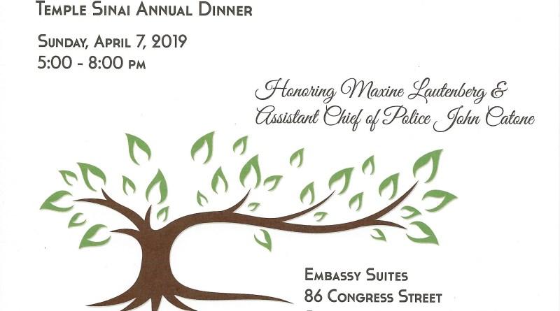 Annual Dinner – April 7 (5-8pm)