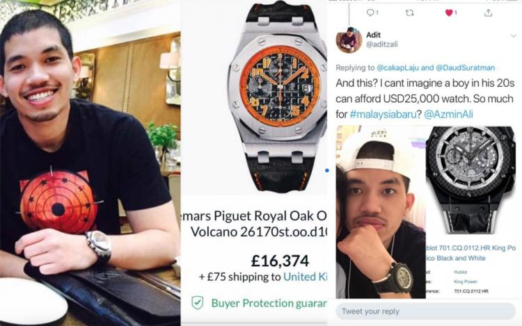 Postings flashing pricey watches and Dior jackets have all created unwelcome comment
