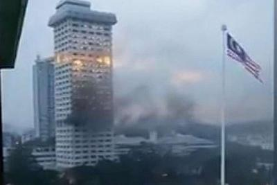 Fire on the 10th floor of Bukit Aman last night - it is where all the documents on white collar crime are kept.... a coincidence people are asking?