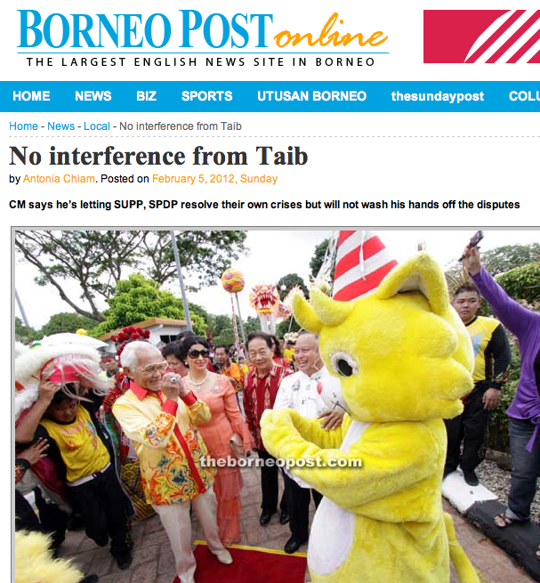 'Weighty issues' in the Borneo Post - Taib seeks Ang Pow with latest top cronies for New Year