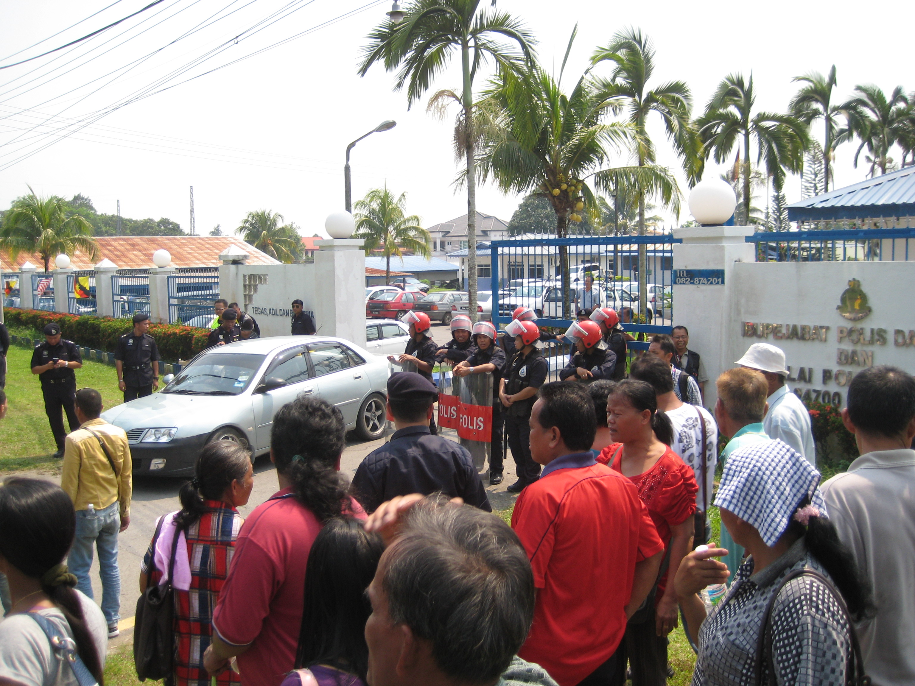 Image result for Twelve individuals, who had been remanded in connection with a land dispute between a plantation company and the Bidayuh Singai community, were released on bail yesterday.