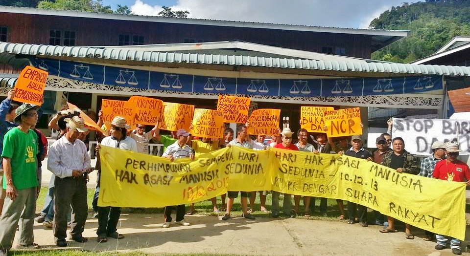 Protest in Baram as well