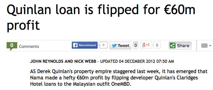 Successful sale of risky debt to Malaysia at well above the price others were prepared to pay.