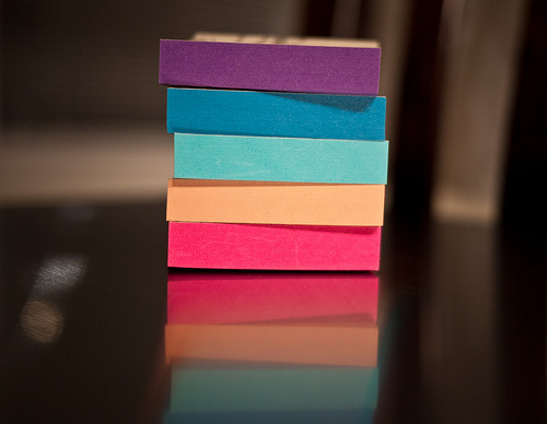 Objectivity and post-it notes
