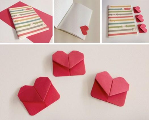 Origami Heart Corner Bookmark Instructions Origami Tutorial Lets