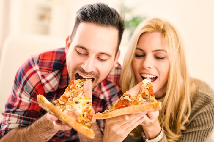 people in love gain weight