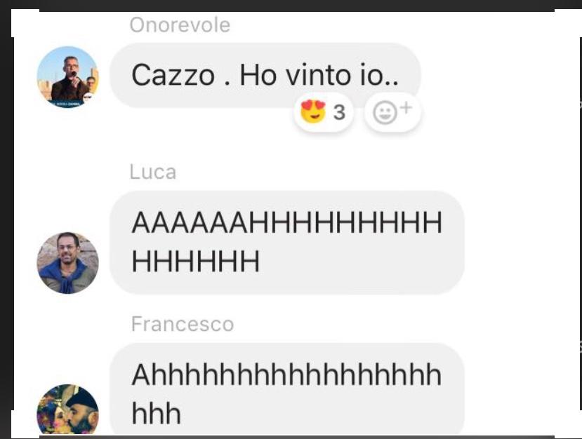 """""""Cazzo. Ho vinto io"""". (Di Francesco Giorgioni)"""