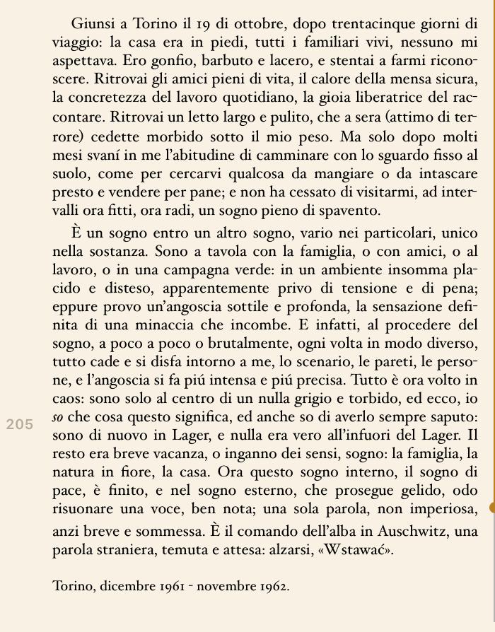 1 settembre 1939, Primo Levi, un panino (di Francesco Giorgioni)
