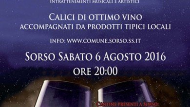 Photo of Calici di Stelle, a Sorso il 6 agosto