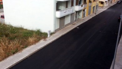 Photo of A Porto Torres nuovo manto stradale in via Lussu