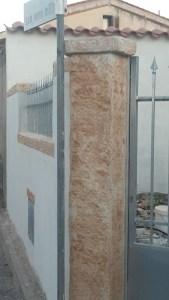 pilastri in finta pietra casa Oristano