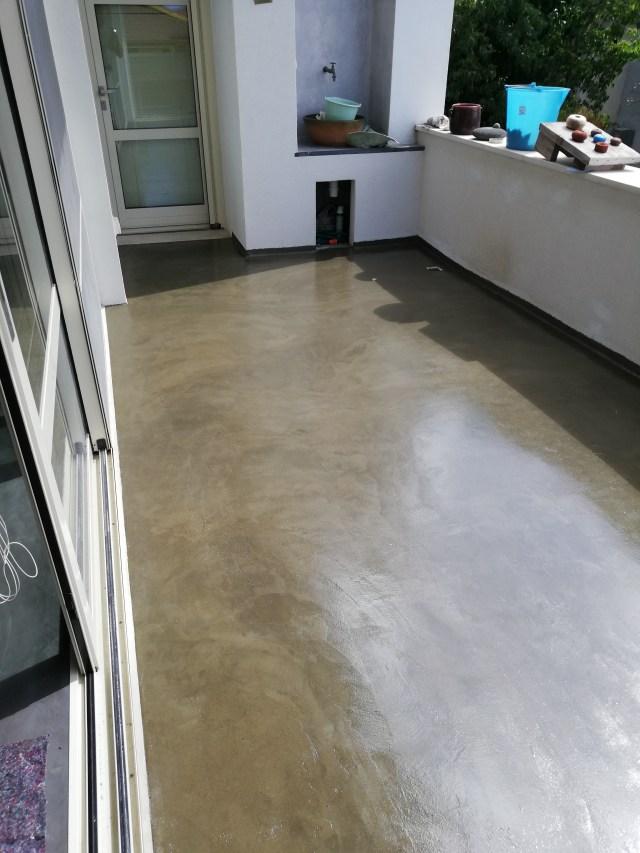 Microcemento per terrazzo in abitazione a Terralba