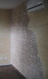 Intonaco stampato su parete interna