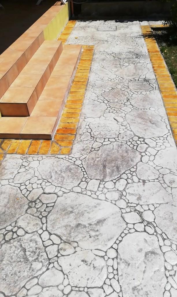 Pavimento stampato realizzato a Iglesias