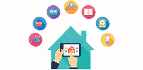 Illustrazione di una casa smart