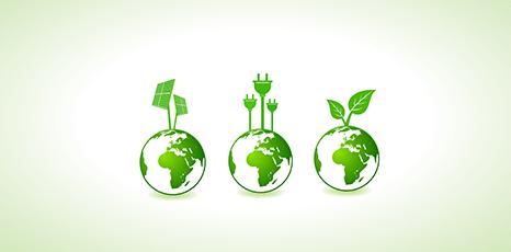 Illustrazione sul concetto di energie rinnovabili