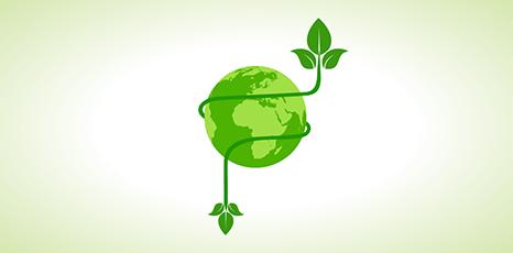 Illustrazione di una Terra verde