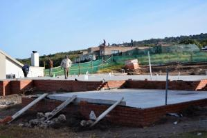 The foundations of a Sardinia Bay Estate home being built.