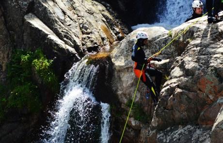 sa spendula waterfall, amazing experience, canyoning in sardinia
