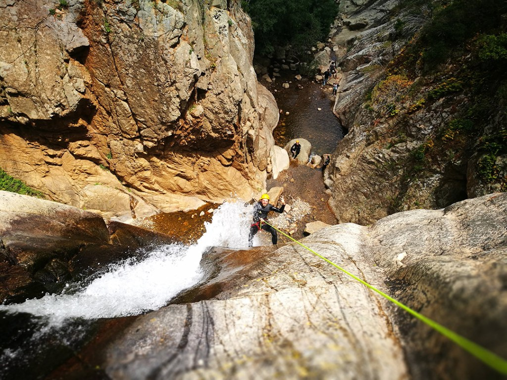 sa spendula waterfall, sardinia waterfalls, amazing experience, canyoning in sardinia