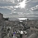 Blick auf den Golfo degli Angeli vom Castello-Viertel, Cagliari