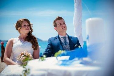 Hochzeit auf Sardinien: Vor allem Villasimius ist ein begehrtes Ziel für das Ja-Wort am Strand. Copyright: Julia & Matthias