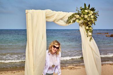 Hochzeit an der Spiaggia di Nora in Pula